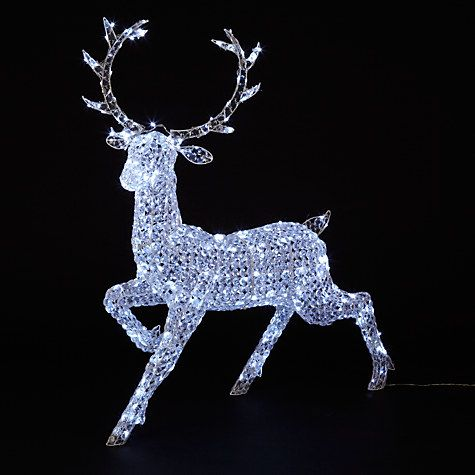Buy john lewis crystal reindeer 300 led indoor outdoor for Christmas deer decorations indoor