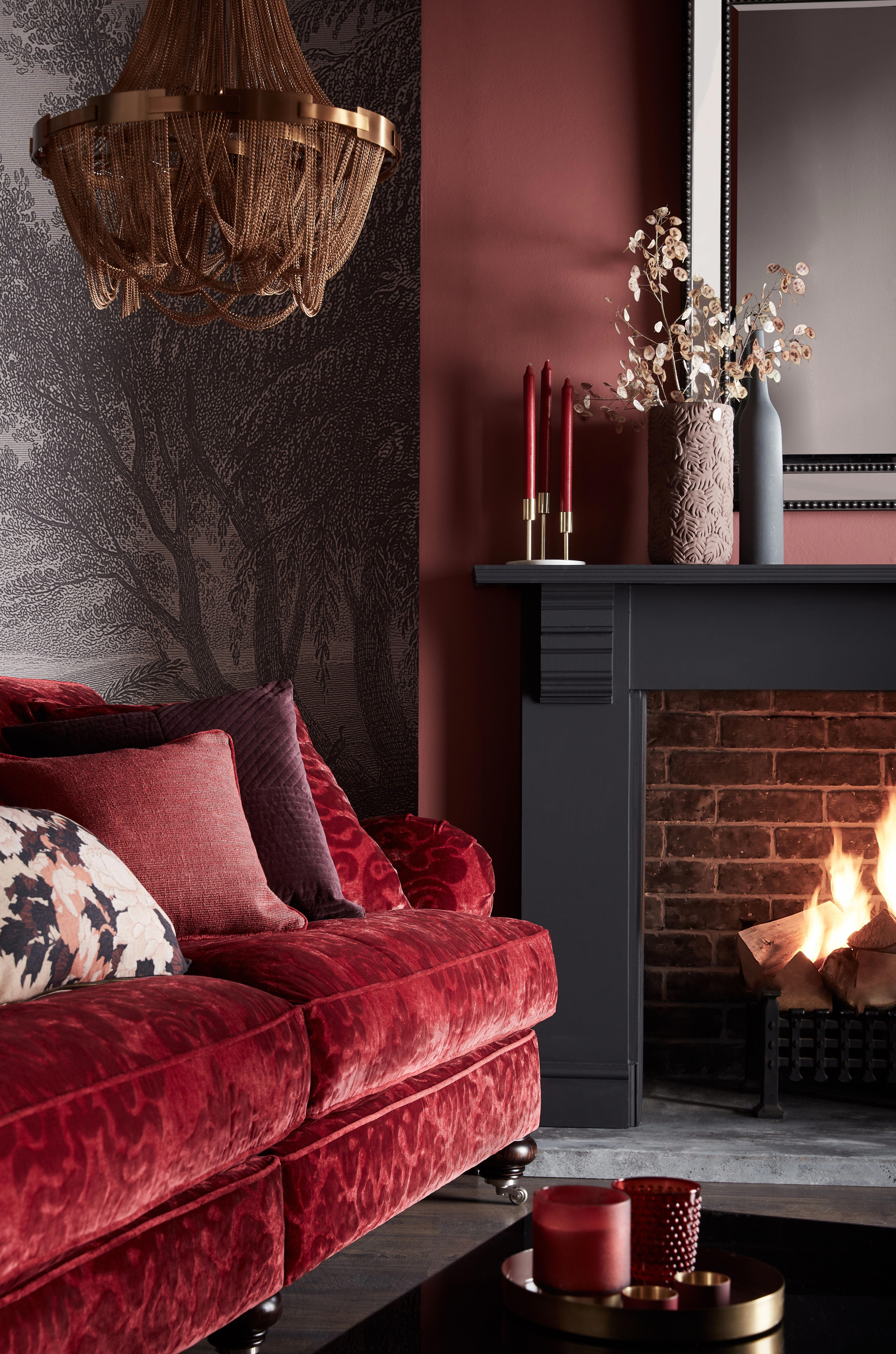 15+ Red velvet living room set ideas
