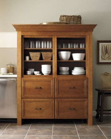 Martha Stewart Kitchen Cabinets : As Simple As Possible Maximizing  Space:Simple Free Standing Cabinets