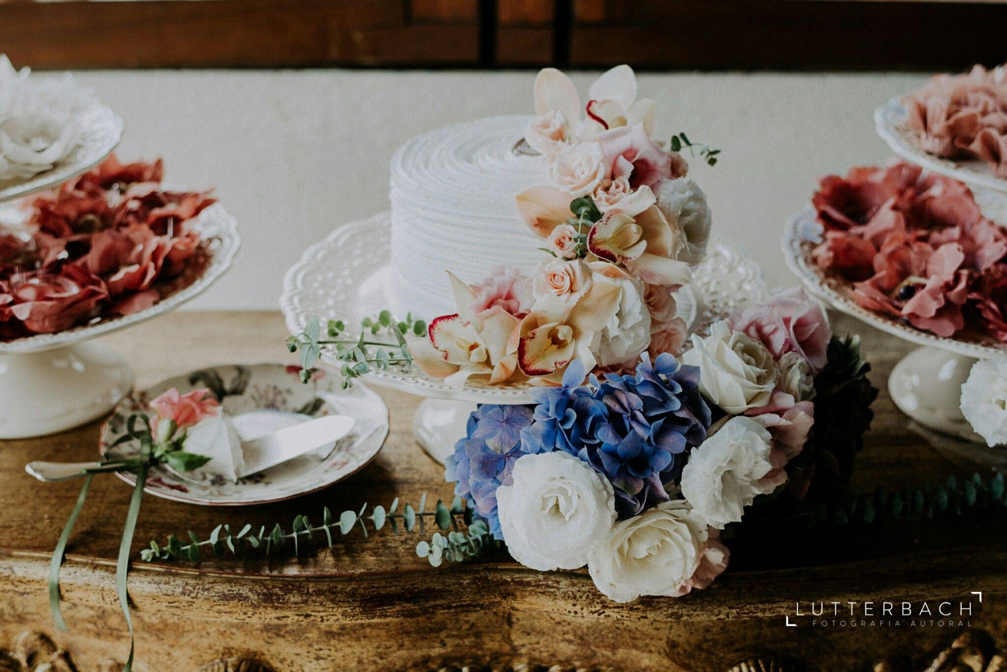 Decor mesa de bolo para casamento