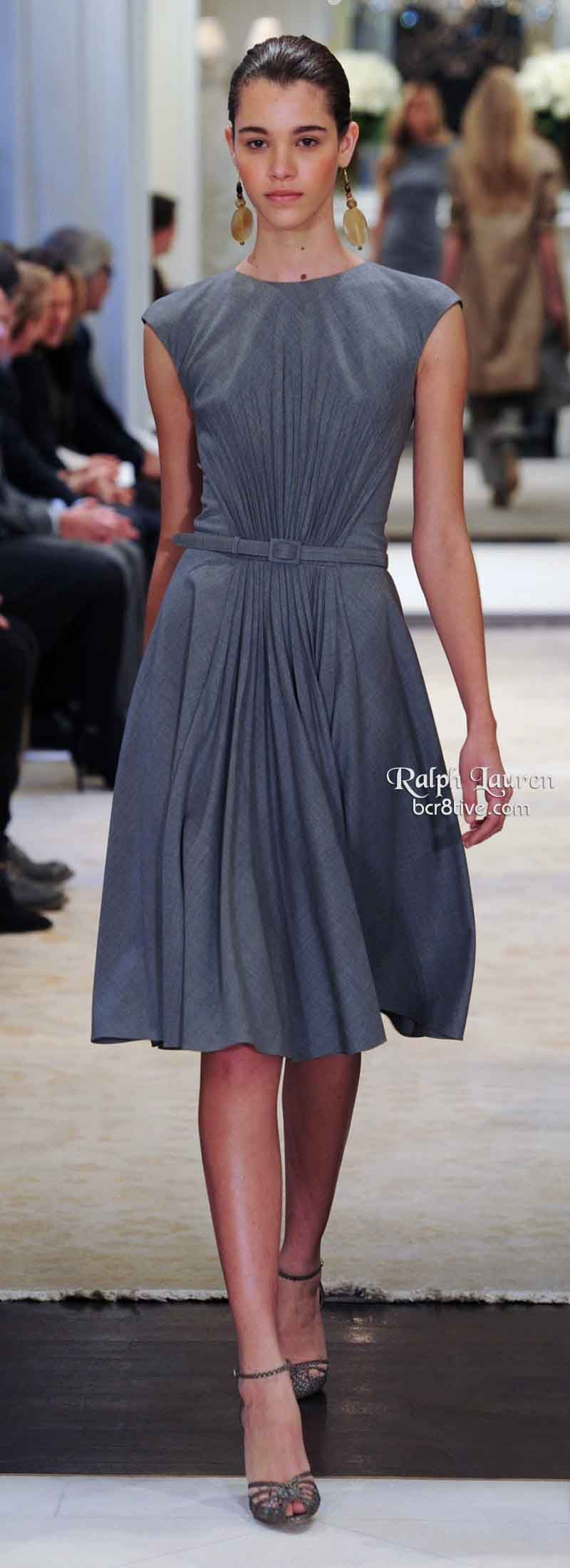 Ralph Lauren Pre Fall 2014 Gorgeous dress; would have to have a lower neckline for me, though.