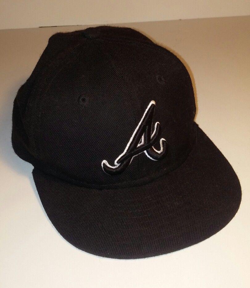 Atlanta Braves Black Youth Baseball Hat Fitted 6 3 8 New Era 59fifty Mlb Merch Newera New Era 59fifty Mlb Merch Hats