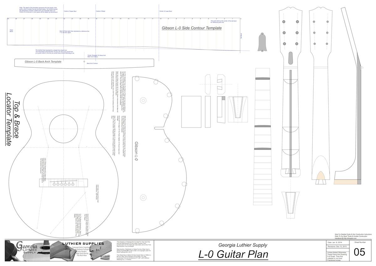 Gibson L 0 Guitar Plans Electronic Version Guitar How To Plan Acoustic Guitar
