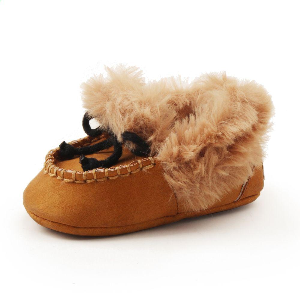 Delebao Puszyste Zimowe Buty Dla Dzieci Cieple Noworodka Sznurowane Maluch Buty Bawelniane Moda Abrasyjne Tkaniny Dzieci Soft Sole Shoes Baby Shoes Girls Shoes