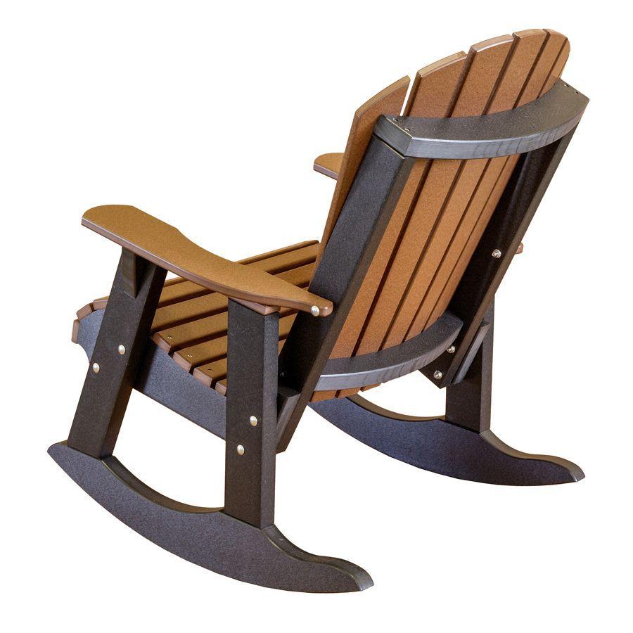 Amish Heritage Poly Fan Back Rocker Rocking Chair Adirondack