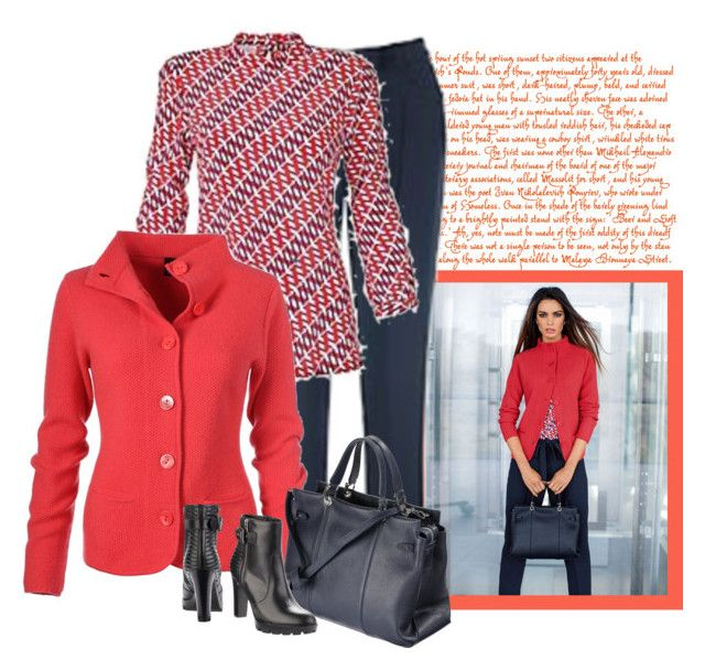 """Cardigan, pure cashmere | Madeleine Fashion"" by bodangela ❤ liked on Polyvore"