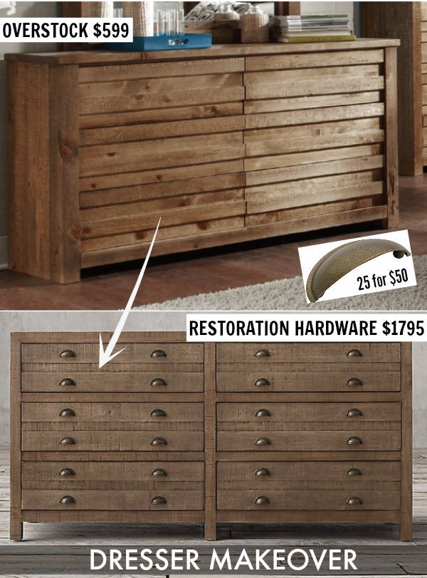 Transform A Less Expensive Wooden Dresser Into Rh Look Like With The Addition Of Drawer Pulls Easy