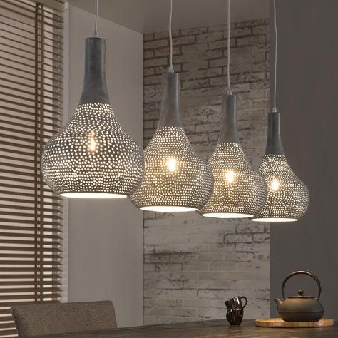 Hanglamp Judd 4-lamps, kleur grijs - #Meubelpartner #stoere lamp ...