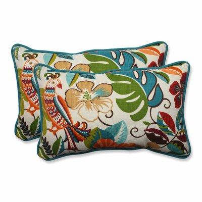 Peacock Pillow Perfect Outdoor Telfair Rectangular Throw Pillow Set of 2