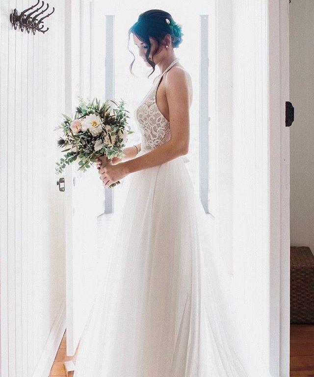 Jess Conte Wedding Dress Wedding Dresses Halter Wedding Dress