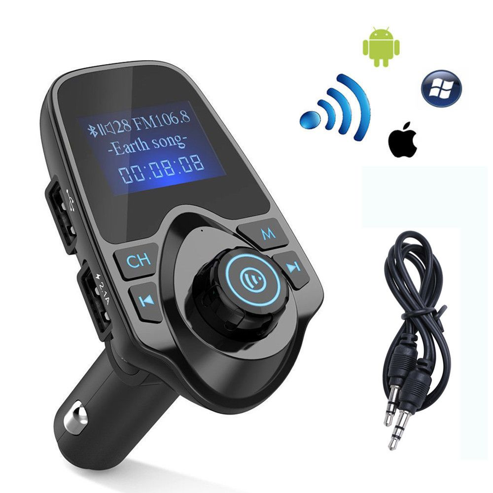 BT Car FM Transmitter Wireless Radio Adapter Dual USB Charge For iPhone 6