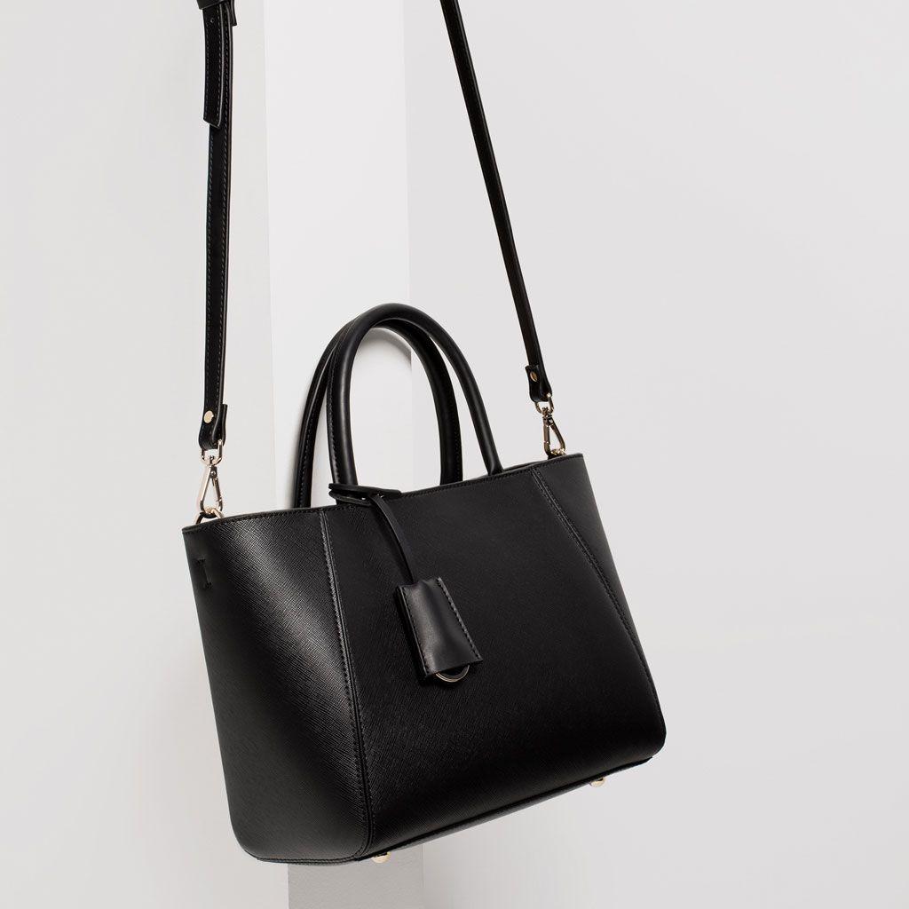 Mini leather tote bag zara - Image 4 Of Tote Bag From Zara