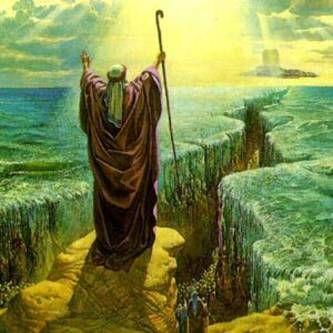 Moises Abriendo Las Aguas Cerca Amb Google Red Sea Bible