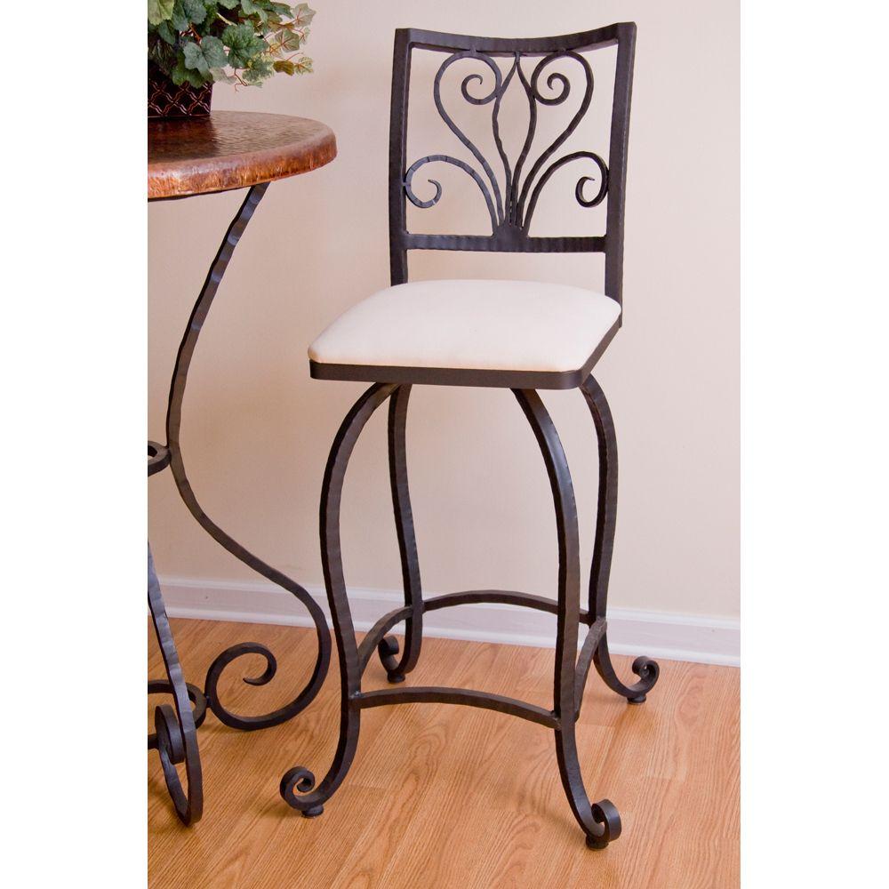 alexander wrought iron bar stool by mathews u0026 company - Wrought Iron Bar Stools