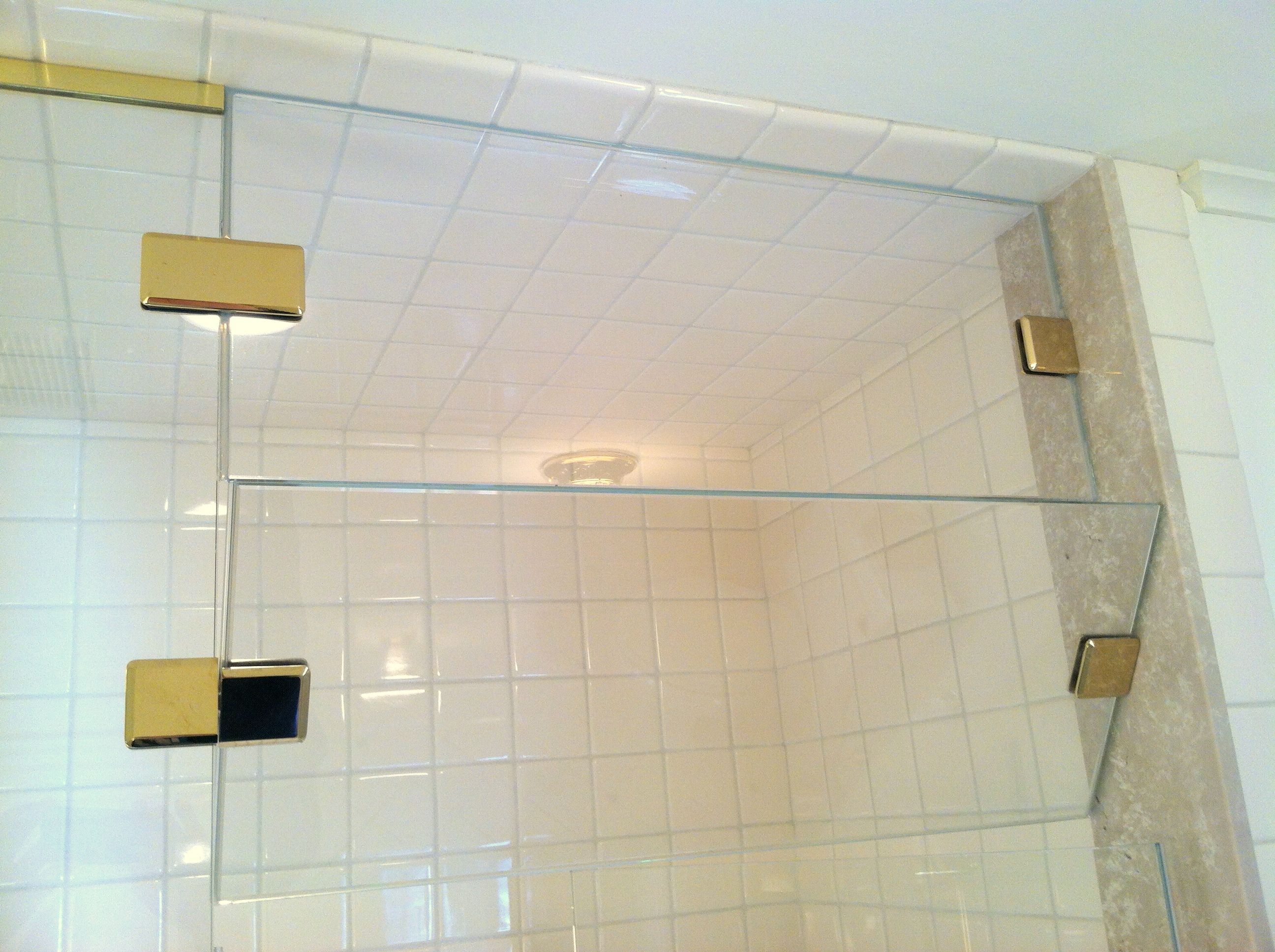 Custom Shower Doors Use This Design For Extra Tall Steam Shower