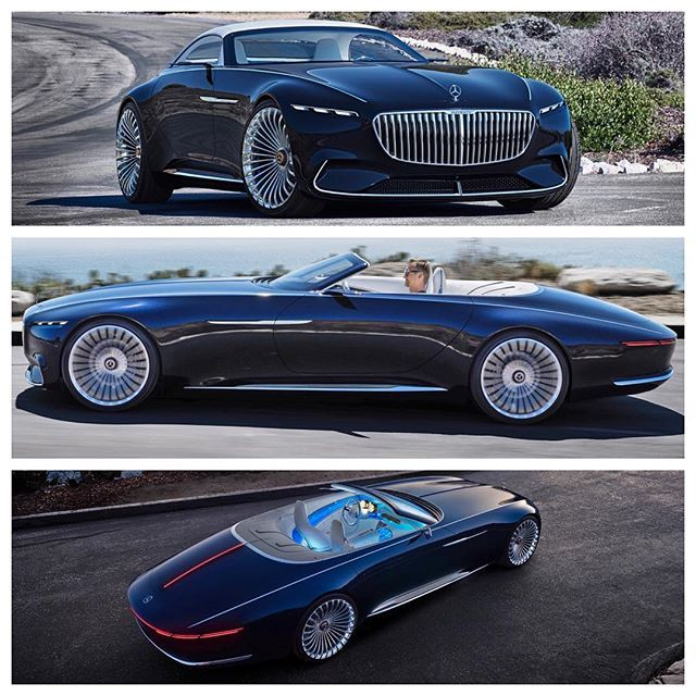 "Mark Elias on Instagram: ""Higher-Res images.  Mercedes-Benz debuted the Vision Mercedes-Maybach 6 Cabriolet concept car during the Pebble Beach Concours d'Elegance…"" #conceptcars"