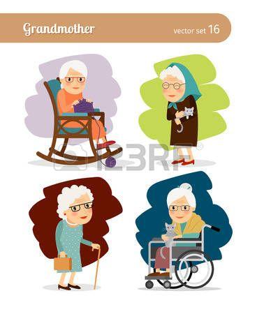Silla De Ruedas Personaje De Dibujos Animados De La Abuela Vectores Caricatura De Personas Dibujos Animados Personajes Plantillas Power Point Gratis