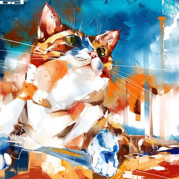 Ilustração de gato 11