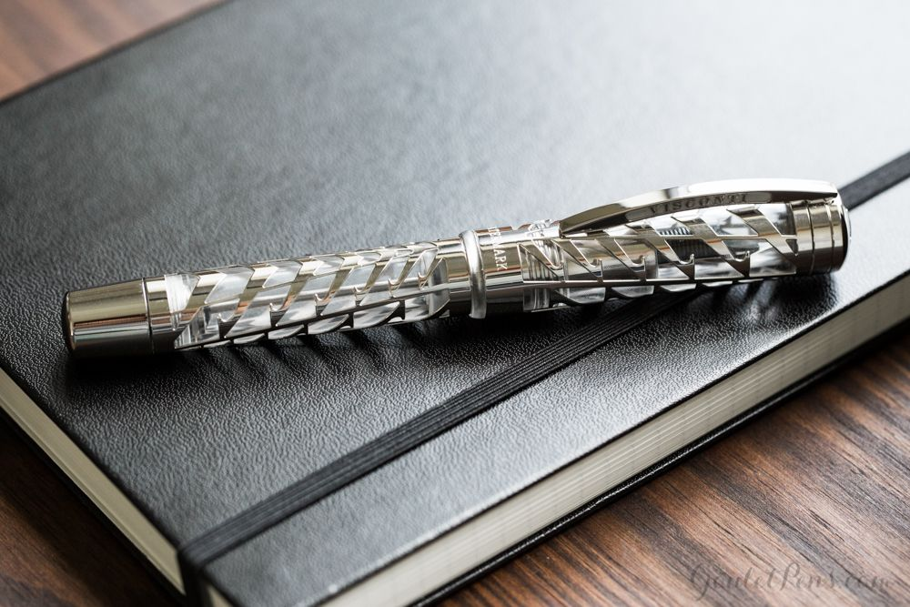 The Visconti Limited Edition Watermark capped and sitting on a Leuchtturm1917 Notebook.