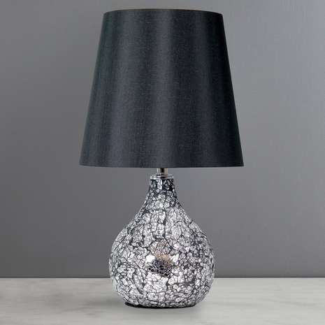 Exceptionnel Small Crackle Glass Table Lamp | Dunelm