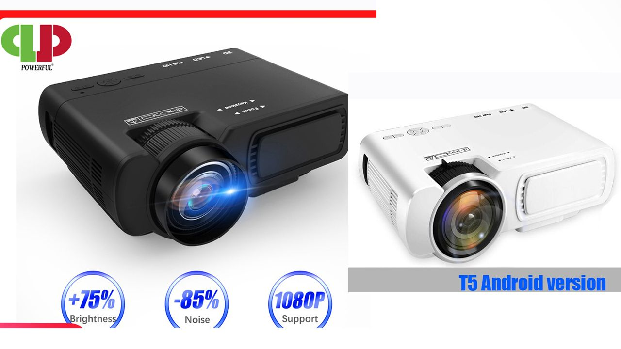 Led Projector T5 Android 6 0 Full Hd 2600 Lumens Wifi Connect