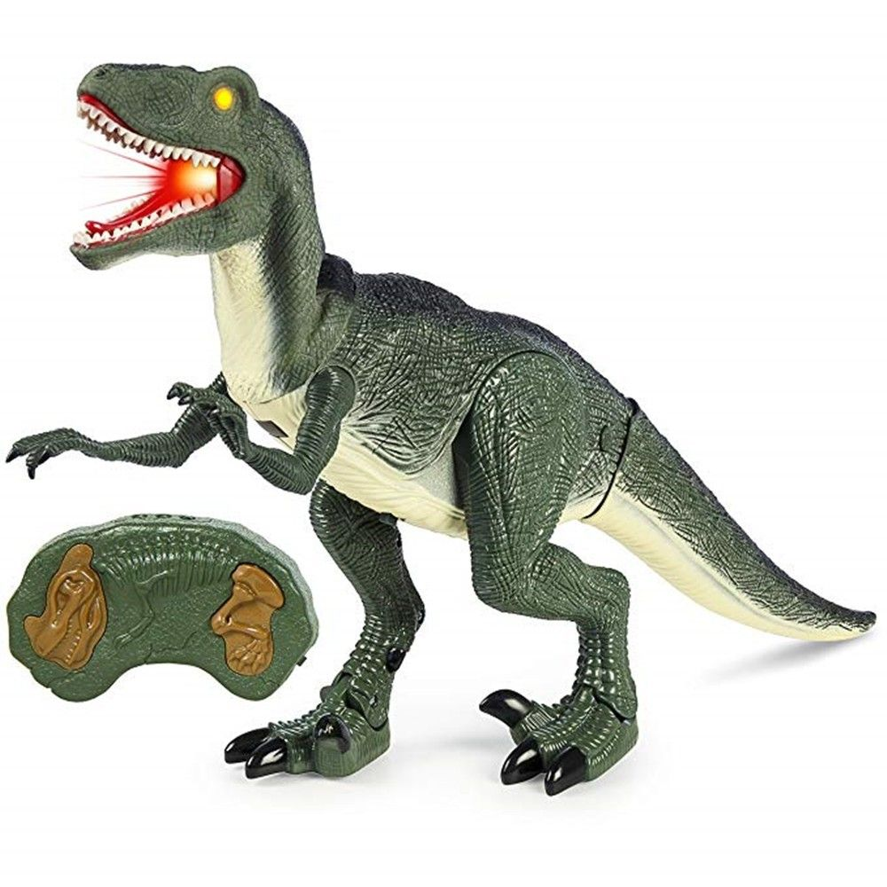 Remote Control Velociraptor Rc Walking Dinosaur Lights And Sounds Kid Pet Toy Army Green 3n87517912 Animals For Kids Dinosaur Toys Pet Toys