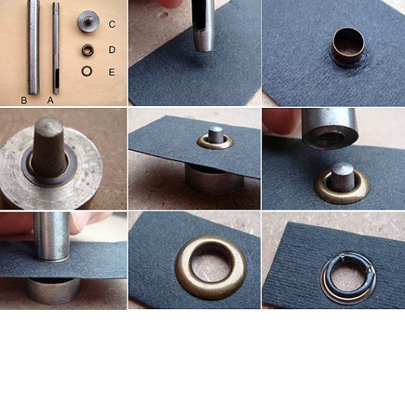 5mm Install Eyelet Tool Setting Kit For Grommets Eyelets Die