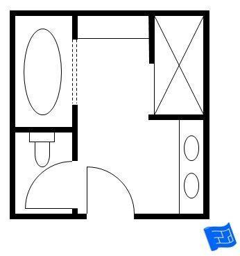Trendy bathroom layout plans 10x10 57 ideas   Bathroom ...