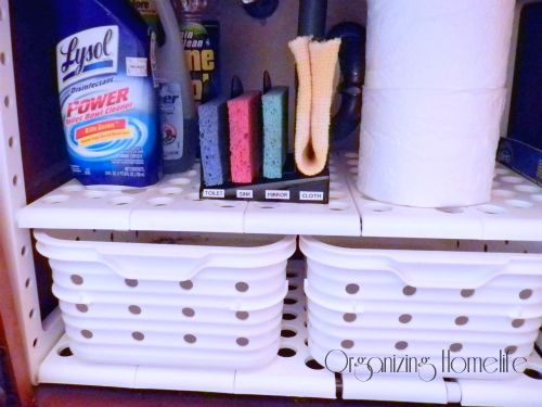 Lovely Use Office Products To Organize Bathroom Cleaning Supplies | Organizing  Homelife Home Design Ideas