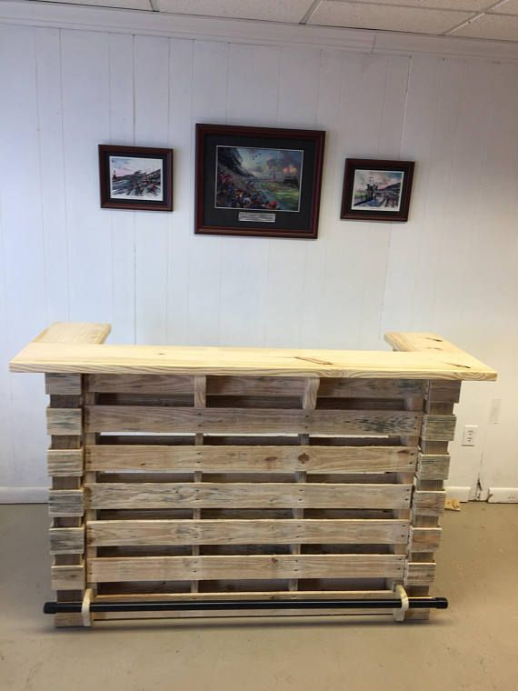 The Natural ~ Pallet Bar/Tiki Bar •• Un-Stained •• Finish To Your ...