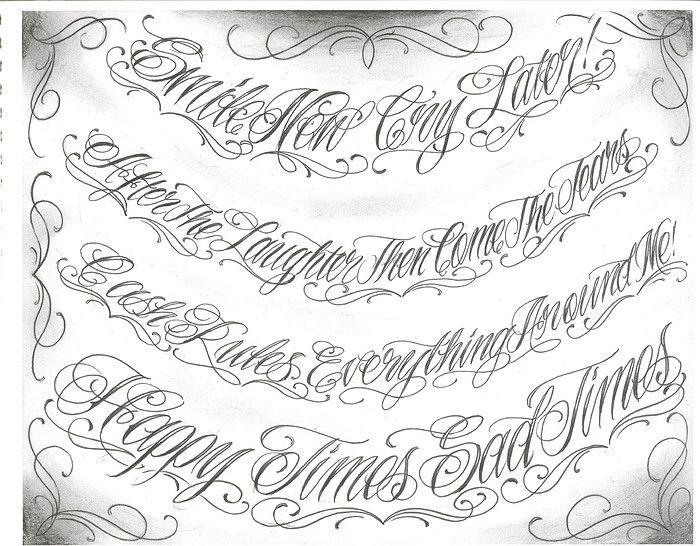 Abecedario De Letras Chicanas Para Tatuajes Imagui Tattoo