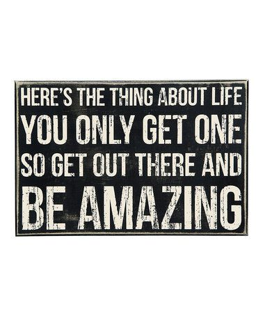 Loving this 'Be Amazing' Box Sign on #zulily! #zulilyfinds
