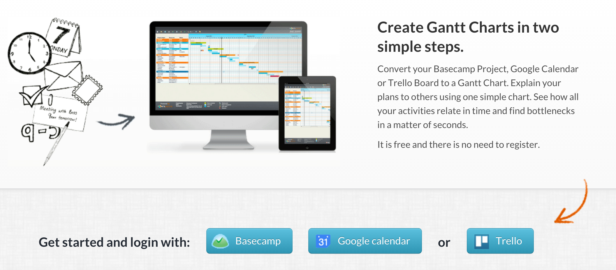 Create gantt charts in two simple steps convert your basecamp create gantt charts in two simple steps convert your basecamp project google calendar or trello board to a gantt chart explain your plans to others using nvjuhfo Image collections
