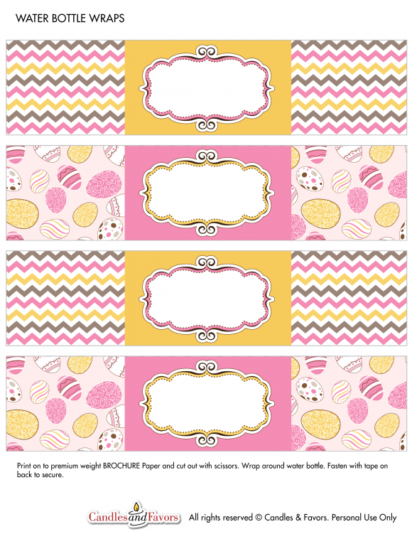 Free Printables For Easter  Water Bottle Labels Water Bottles