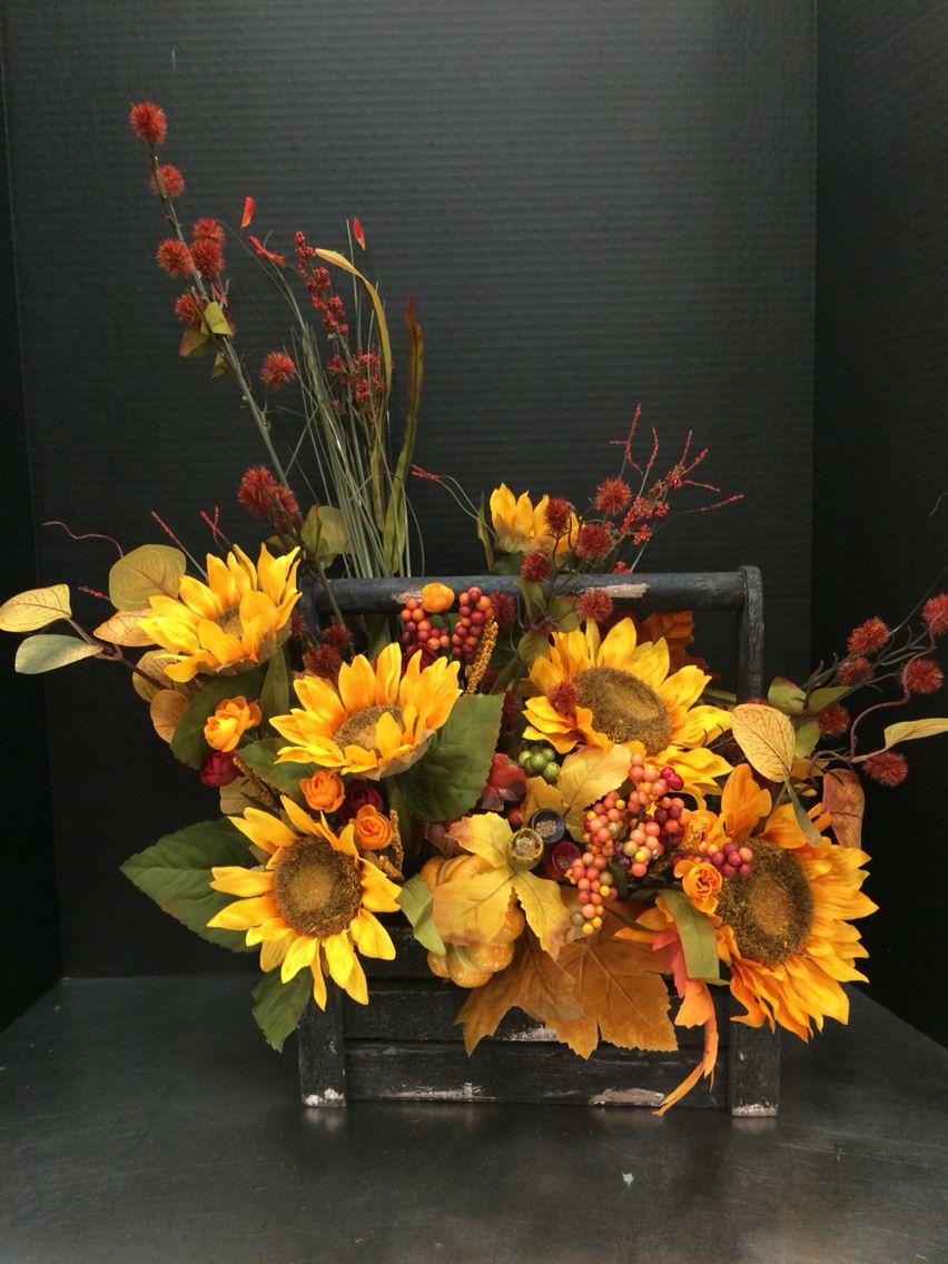 Autumn Bliss Silk Flower Centerpiece Seasonal Arrangements For