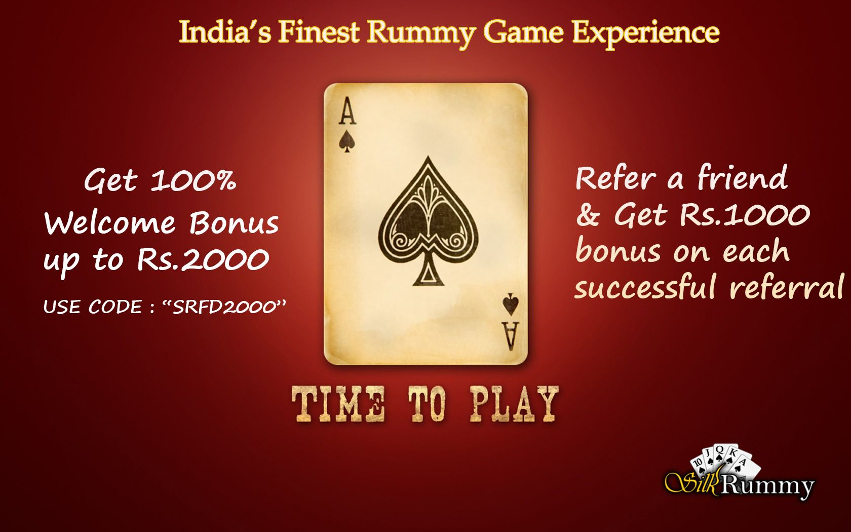 India's Finest Rummy Game Experience Get 100