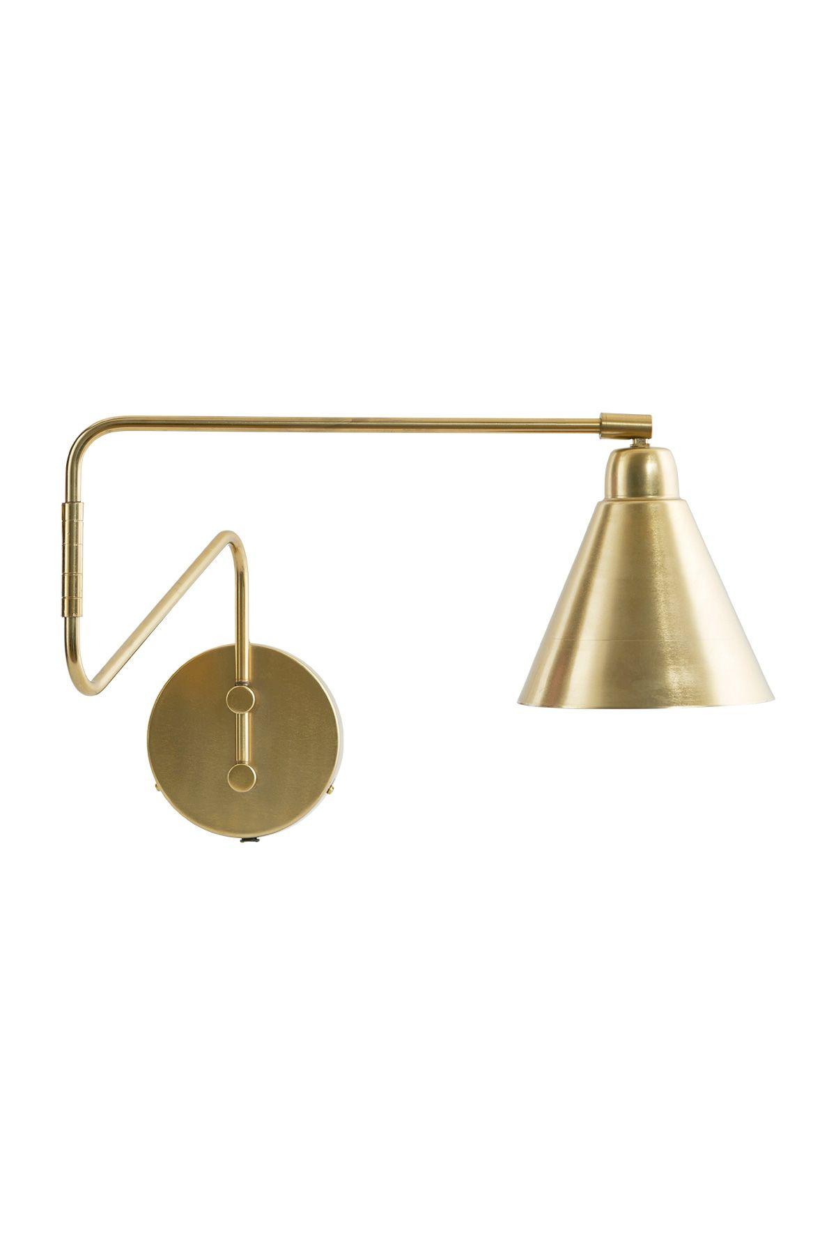 Vegglampi Game Brass Hvitur Wall Lights Wall Lamp Brass Wall Light