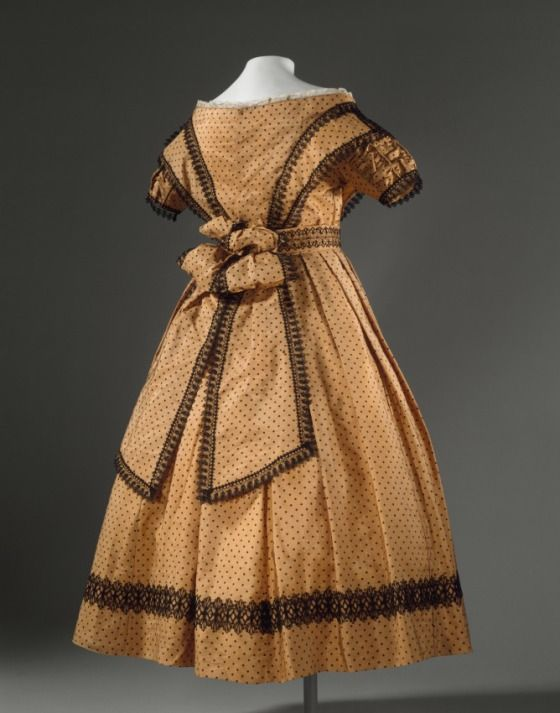 Girl's Dress (image 2) | England | 1869 | silk | Los Angeles County Museum of Art | Object #: AC1997.191.3.1-.5