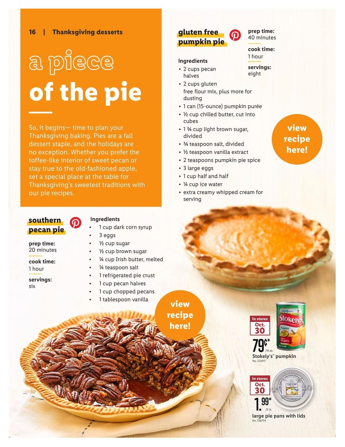 Lidl Holiday Magazine Us Weekly Ad Specials For October 30 Page 16 Thanksgiving Desserts Weekly Ads Holiday Magazine