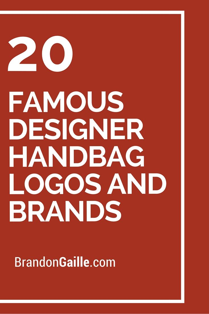 20 Famous Designer Handbag Logos And Brands Handbags Couture Bags