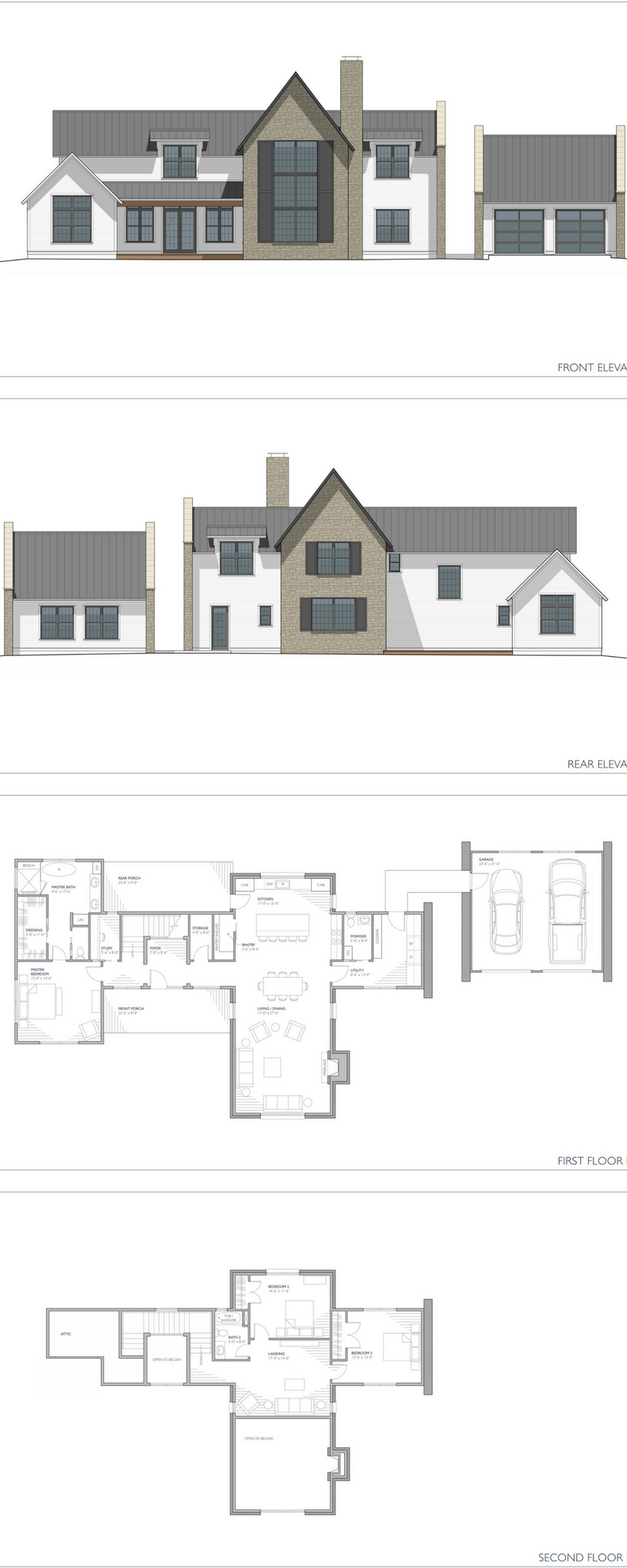 New house plans now available the aubrac 3152 sf two story floor plan