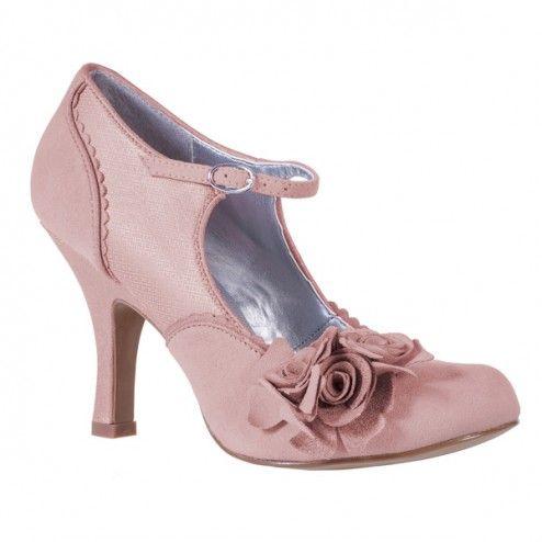 Ruby Shoo Alice Pump In Dusky Pink