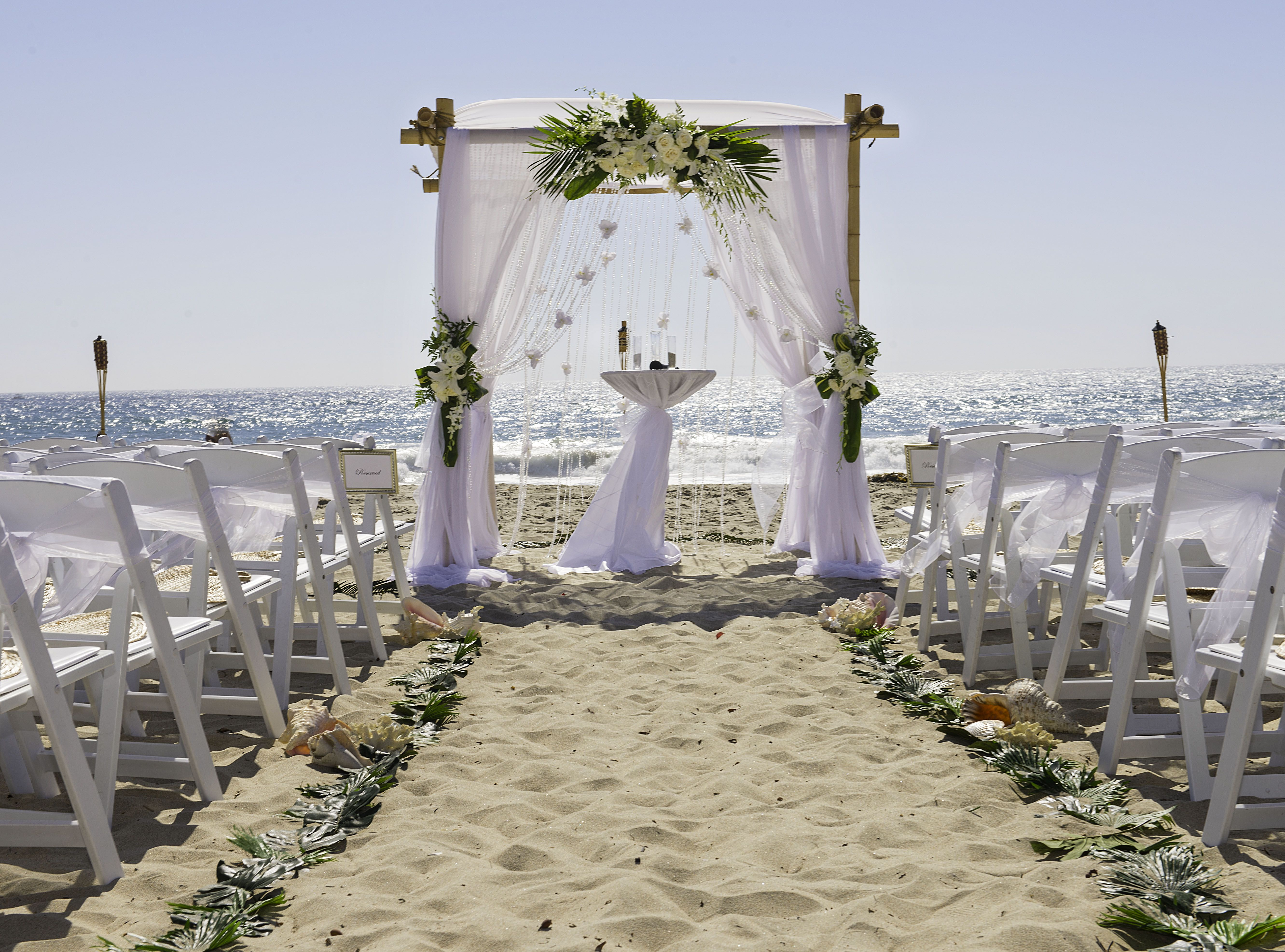 Salt Creek Beach Wedding Bamboo Arch California Beach Wedding