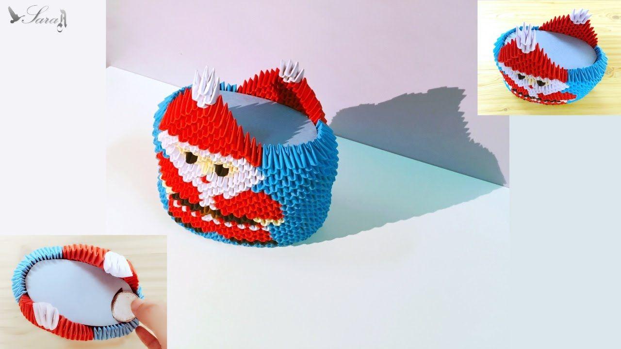 How To Make 3d Origami Money Box Santa Claus Diagrams