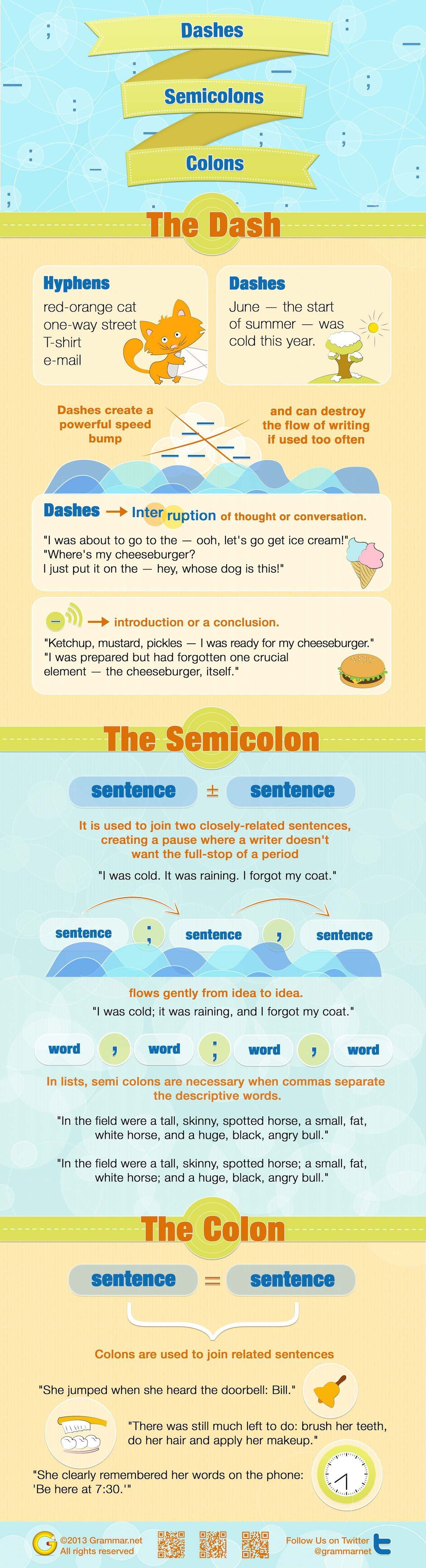 Dashes Semicolons And Colons