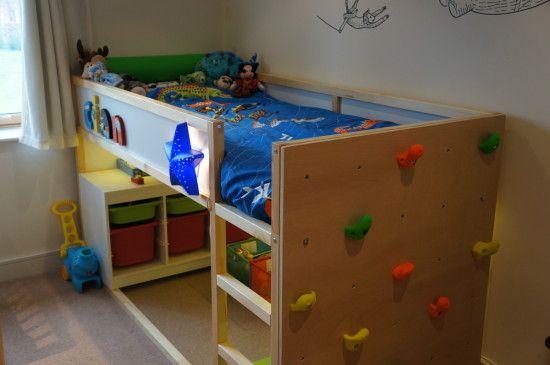 Kids Bed Climbing Wall | Bunk beds!! | Pinterest | Walls, Kids ...