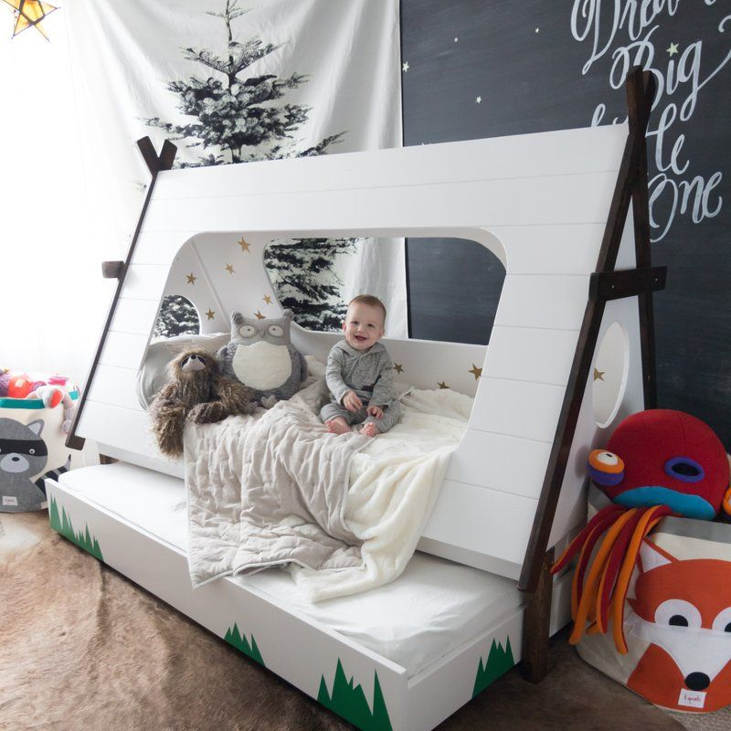 check out f62c7 bae1b DIY Toddler Bed in Shape of a Tent – Kids TeePee Trundle Bed ...
