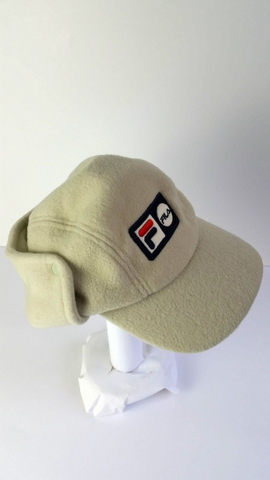 NEW FILA MENS POLAR FLEECE CAP WINTER EAR NECK COVER ADULT BEIGE HAT NEW  55406a8d0f4a