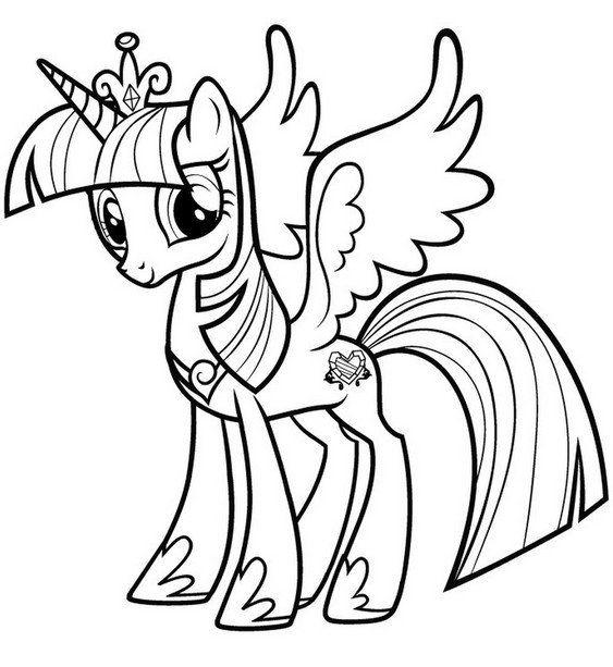 Раскраска Май Литл Пони   Unicorn coloring pages, My ...
