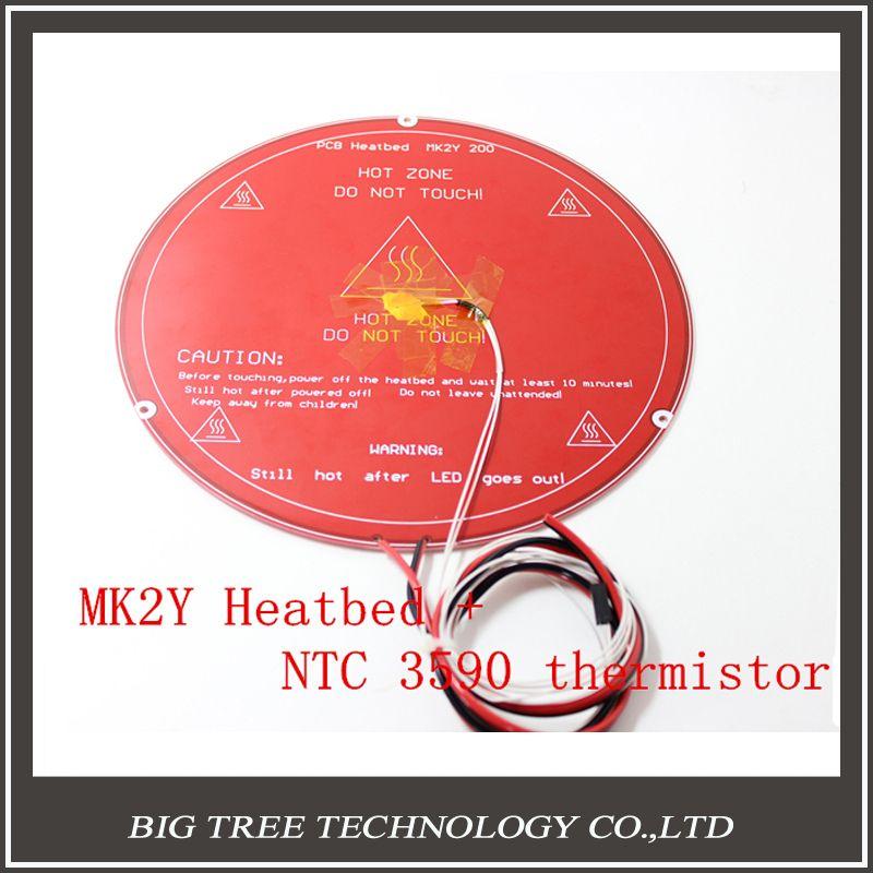 3d Printer Pcb Mk3 Heatbed +sticker+ Led Resistor Cable 100k Ohm Thermistors Aluminum Heated Bed Diameter Like Mk2b